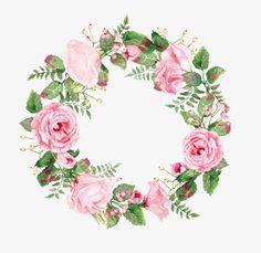 цветы, венок, венок, цветы, цветы Изображение и клипарт PNG