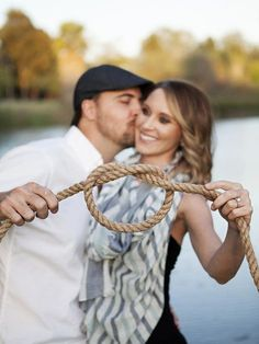 Wedding Save-the-Date and Engagement Announcement Ideas / http://www.deerpearlflowers.com/tie-the-knot-wedding-ideas/