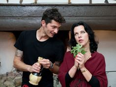 A Q with Debi Mazar and Gabriele Corcos. Photo courtesy of the Cooking Channel