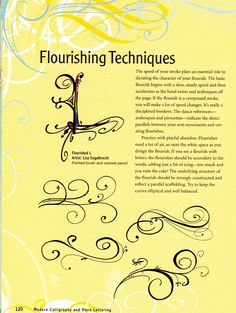 Tips on flourishing with a pen.