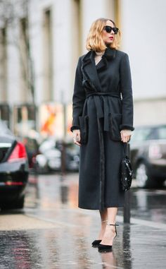 Candela Novembre from Best Street Style From Paris Fashion Week Fall 2017  Tip: Dressing in all-black will never go out of style.