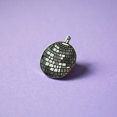 Disco Ball Enamel Pin, Party Time Pin, 70's Retro Pin