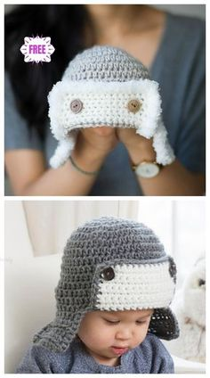 Crochet Baby Aviator Hat Free Crochet Patterns - Video ab14349d2076
