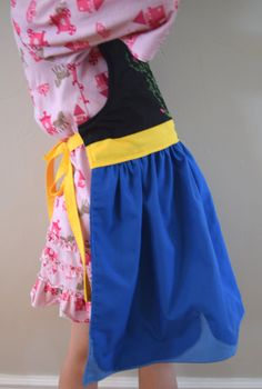 Frozen Anna Dress Up Apron ~ Basic or Decorative Princess Costume Apron for children www.animecosplays.com