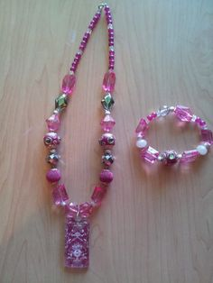Pink Royalty Handmade All acrylic beads by Aaccezzories on Etsy, $15.00