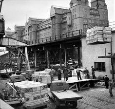 Oslo Bryggeriarbeidere ved Havnelageret på Langkaia i februar 1965..
