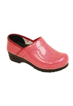 Sanita Pearl Patent nursing clogs. Love the color.  Need a size 36 though.