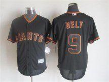 San Francisco Giants #9 Brandon Belt Black 2015 MLB