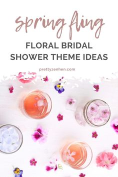 What better way to celebrate a spring fling or summertime soiree than with flowers, the prettiest and girliest theme of them all. From food embellished with edible flowers, flirty floral outfits, flowery party decorations, or getting hands-on with a floral workshop, there are so many ways to incorporate beautiful blooms into your bridal shower theme.  #bridalshower #flowercrown #floralbridalshowertheme #floralpartytheme Hen Party Food, Bridal Shower Activities, Crown Party, Floral Outfits, Bridal Shower Planning, Flower Bar, Cocktail Ideas, Floral Backdrop, Bridal Shower Tea