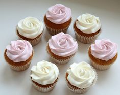 Rose cupcakes with recipes