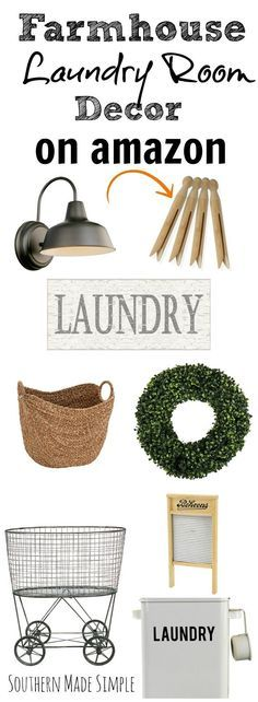 Looking to spruce up your laundry room and give it that farmhouse fixer-upper inspired look! Look no further! I've gathered up the BEST farmhouse decor for the laundry room, and it's all available on Amazon! Hello, 2 day free shipping!