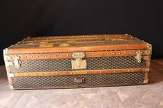 1920s Goyard Cabin Trunk | From a unique collection of antique and modern trunks and luggage at https://www.1stdibs.com/furniture/more-furniture-collectibles/trunks-luggage/