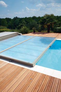 Abri piscine plat motorisé Abrisud