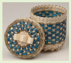 Passamaquoddy basket at The Commons Eastport