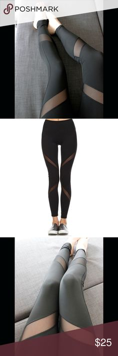 Black High Waist Mesh Contrast Yoga Leggings Black High Waist Mesh Contrast Yoga Leggings  This is my test wholesale item <3. These leggings are very comfortable and faltering. These have no brand name attached but the quality is comparable to Target. They have a high waist, are full length and feature trendy mesh paneling. For sizing information please reference the chart above.   Price is firm on this item. Bundles for an additional discount. 10% off two items and 15% off three. Free…