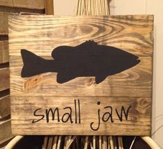 Hand painted custom wood smallmouth bass sign. rustic sign, fish, cabin sign, smallmouth, fishing, pallet sign, wood fish, wood smallmouth by MittenGirlzDesigns on Etsy