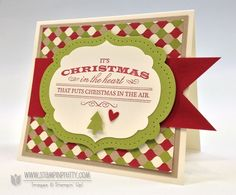 Christmas in the heart card.