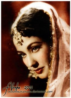 Beautiful vintage Bollywood actress Meena Kumari.