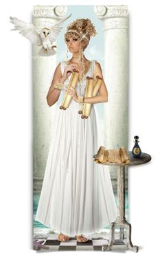 """""""Athena, Goddess of Wisdom."""" by auntiehelen ❤ liked on Polyvore featuring art"""