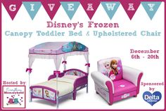 Enter Delta Children's Frozen Upholstered Chair & Frozen Toddler Canopy Bed  Giveaway - ends 12/20 Enter here http://www.everythingmommyhood.com/2014/12/delta-childrens-frozen-upholstered-chair-frozen-toddler-canopy-bed-review-giveaway-ends-1220.html For Your Chance To Win! YOU KNOW THAT I MOST DEFINITELY ENTERED!!!!!!!!!! Thanks, Michele :)