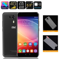 THL Knight 1 Android Phone - 4G, Octa Core CPU, 3GB RAM, Fingerprint Scanner, Android 7.0, Dual Rear Camera, 4G SIM, OTG (Black) - THL Knight 1 Android Phone delivers flagship[s specs ad cheap phone prices so everyone can enjoy the latest smartphone features for less.