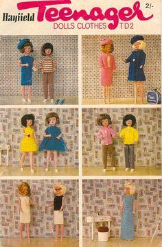 PDF Knitting patterns for Vintage Sindy Barbie by TheKnittingSheep