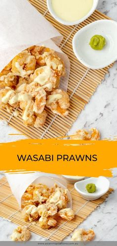 Crispy deep-fried prawns with a creamy Japanese wasabi mayonnaise. Get this simple recipe to make Wasabi Prawns at home. Recipe by Asian Inspirations. #japaneserecipe #japaneserecipes #japanesedish #japanesesnacks #japanesecuisine #japanesesauce #japrecipe #japrecipes #japdish #japsnacks #japsnack #japsauce #asianrecipe #asianrecipes #asianinspirations #japanese #jap #prawns #friedprawns #deepfried #deepfriedprawns #wasabi #wasabiprawns #wasabisauce #wasabimayo #mayonnaise #wasabimayonnaise Japanese Dinner, Japanese Snacks, Japanese Food, Japanese Recipes, Kitchen Recipes, Cooking Recipes, Fast Recipes, Ramen Toppings, Mothers Day Dinner