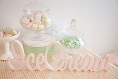 Pastel Ice Cream Social via Kara's Party Ideas | Cake, decor, cupcakes, games and more! KarasPartyIdeas.com #icecreamsocial #iceceamparty #neighborhoodsocial #partyplanning #partyideas #partydecor41