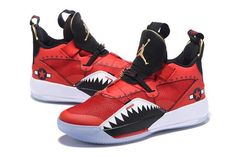 40f4246a76f0ee 2018 Air Jordan 33 Future of Flight Bright Red Black White Sneakers-4 New  Year