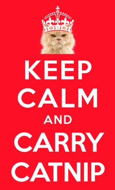 Keep Calm and Carry Catnip ♥