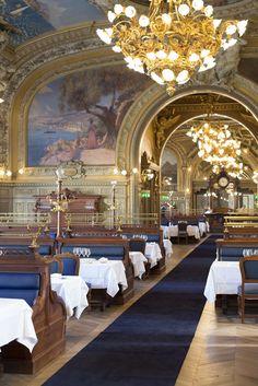 Le Train Bleu GARE DE LYON - Picture gallery #architecture #interiordesign #restoration