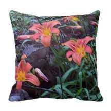 Throw Pillows Field of Lilies  Polyester by GHJPhotographyArt