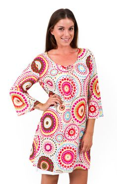 Cotton Kaftan or Beach Dress White Circles by kaftanresort Cotton Kaftan, Circles, White Dress, Tunic Tops, Trending Outfits, Beach, Summer, Etsy, Vintage
