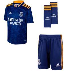 Conjunto Adidas Real Madrid Niños Segunda Equipación 2021/2022 HC5890 Azul 116