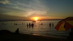 Atardecer en la playa. Ituzaingo Corrientes Argentina