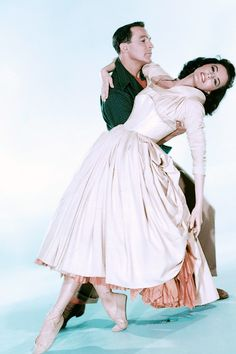 "Gene Kelly and Cyd Charisse photographed for ""Brigadoon"", 1954"