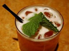 Christmas Jones ~ A sweet highball drink with a blend of strawberries, pineapple and vodka, topped with lemon-lime soda and a mint garnish for a little cheer :)