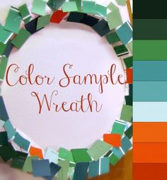 Easy paint chip sample holiday wreath project