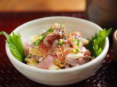 アジのユッケ風刺身 、 焼肉のタレを使うレシピ|魚料理と簡単レシピ