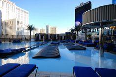 The Pool Area at the New Cosmopolitan Hotel in Las Vegas by merriewells, via Flickr