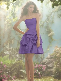 bridesmaid dress! my wedding colors will probably be lilac purple and silver, but this is the only spring-type purple this dress comes in. boo.