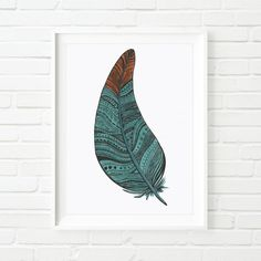 Fine Art Giclée Turquoise and Orange by IndelibleInkWorkshop, $6.50