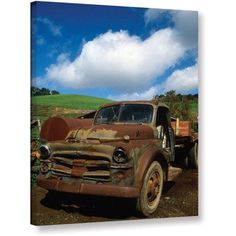 Kathy Yates Old Truck Gallery-Wrapped Canvas, Size: 14 x 18, Blue