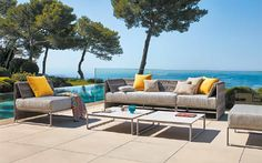 Cali Aluminum Sectional Outdoor Sofa Collection