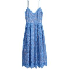 Lace dress (75 CHF) ❤ liked on Polyvore featuring dresses, mid calf dresses, mid calf lace dress, blue pleated dress, blue lace dress and midi dress