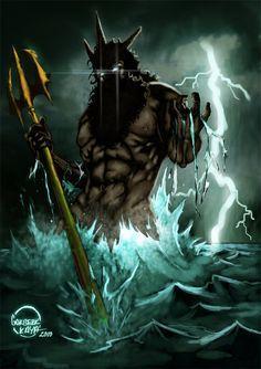 Poseidon and his Trident (Poseidon (Neptune) Greek God - Art ...