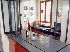 1000 images about verriere coulissante on pinterest - Bar de separation cuisine ouverte ...