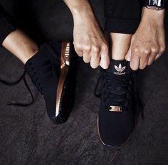 adidas zx flux rose gold