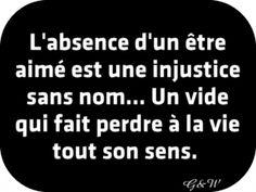 Heureusement la Vie est la plus forte... Si l'injustice reste au fond du cœur, toujours, le vide se réduit lentement, et le sens de la Vie revient...