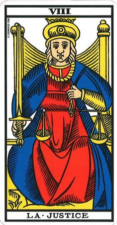La justice - Tarot of Marseille